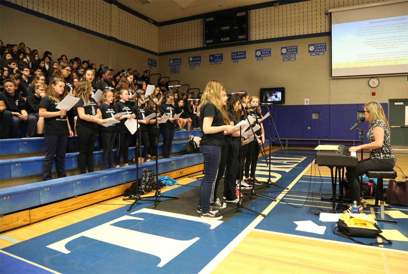 Music for the Catholic Education Week Opening Mass was provided by the BR Jr. Xpression under the direction of Mary Tabone. Photo by Jenna Madalena.